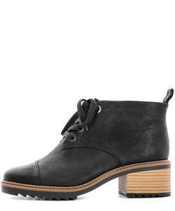 Clarks | Черные Кожаные Ботинки На Каблуке