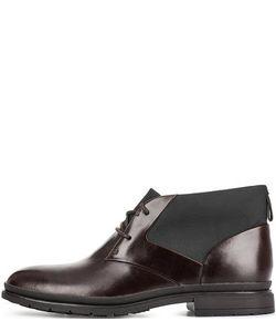 Clarks | Кожаные Ботинки С Текстильными Вставками