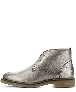 Tommy Hilfiger | Серебристые Ботинки Из Натуральной Кожи