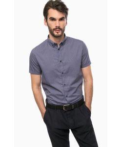 ARMANI JEANS | Синяя Хлопковая Рубашка С Короткими Рукавами