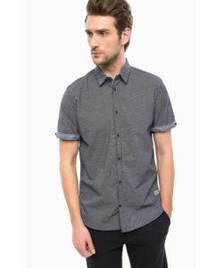 TOM TAILOR | Синяя Рубашка Из Хлопка С Короткими Рукавами