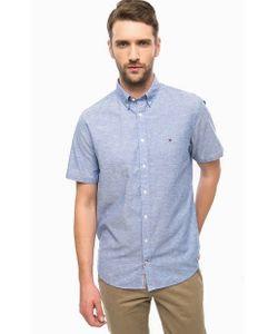 Tommy Hilfiger | Синяя Приталенная Рубашка С Короткими Рукавами