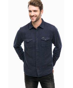 Wrangler | Синяя Хлопковая Рубашка В Клетку