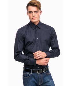 Lagerfeld | Синяя Хлопковая Рубашка На Кнопках