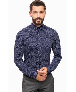 Cinque | Синяя Хлопковая Рубашка