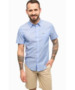 Lacoste | Синяя Хлопковая Рубашка С Карманом