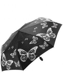 Flioraj | Складной Зонт Черного Цвета С Системой Антиветер