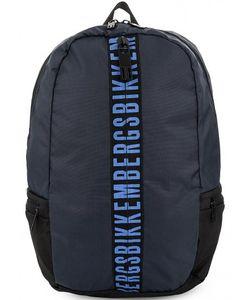 Bikkembergs | Вместительный Текстильный Рюкзак С Широкими Лямками
