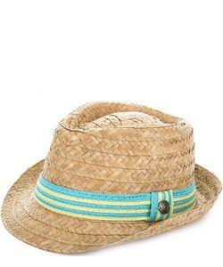 R.Mountain   Соломенная Шляпа С Лентой В Полоску