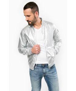 Calvin Klein Jeans | Ветровка Серебристого Цвета На Молнии