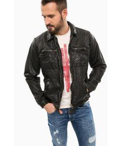 Pepe Jeans | Черная Кожаная Куртка