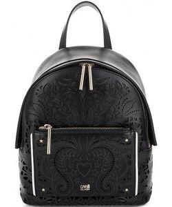 Cavalli Class | Кожаный Рюкзак С Текстильной Вставкой