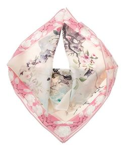 Eleganzza | Шелковый Платок С Цветочным Принтом