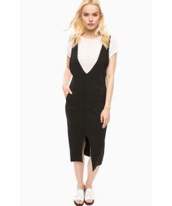 Kocca | Черное Платье С Разрезом Спереди