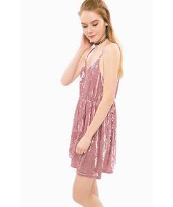 Glamorous | Короткое Платье Из Бархатной Ткани