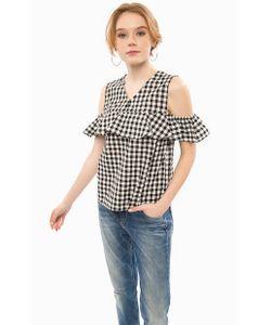 Glamorous | Блуза В Клетку С Воланом По Верху