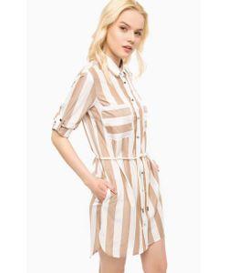 Kocca | Платье-Рубашка В Полоску С Удлиненной Спинкой
