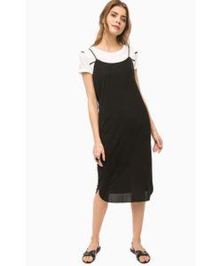 ICHI | Черное Платье На Бретелях С Разрезами