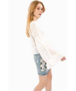 Glamorous | Блуза Из Полупрозрачной Ткани С Кружевными Вставками