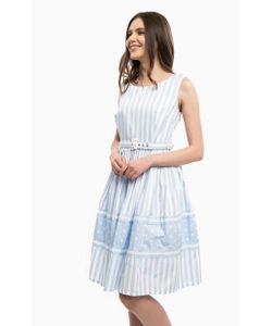 Silvian Heach | Приталенное Хлопковое Платье В Полоску