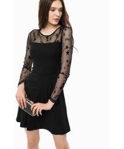 Liu •Jo | Короткое Коктейльное Платье С Сетчатыми Рукавами