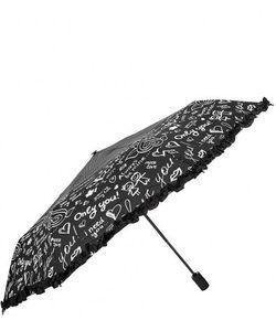 Flioraj | Автоматический Зонт С Куполом Черного Цвета
