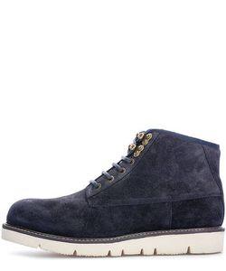 ARMANI JEANS   Замшевые Ботинки Синего Цвета