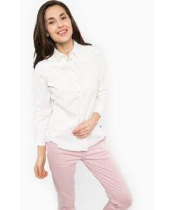 Wrangler | Джинсовая Рубашка Молочного Цвета На Кнопках