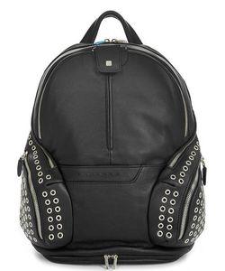 Piquadro   Кожаный Рюкзак С Металлическим Декором