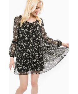 Juicy Couture | Короткое Черное Платье С Цветочным Принтом