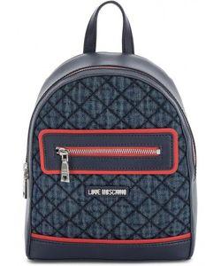 Love Moschino | Маленький Текстильный Рюкзак В Клетку