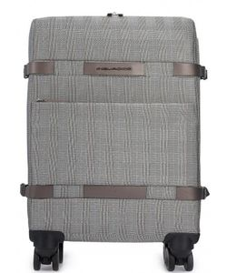 Piquadro | Текстильный Чемодан На Колесах С Двумя Отделами