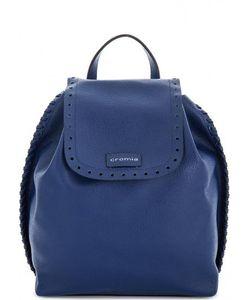 Cromia | Кожаный Рюкзак С Перфорацией На Клапане