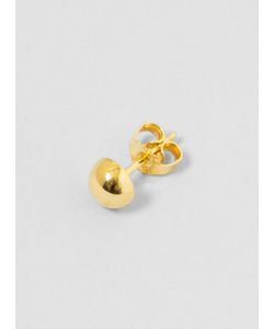 KATRINE KRISTENSEN | Kk13-06 Large Half Sphere Ear Stud Brass Womenswear