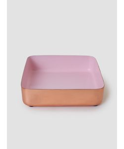 LOUISE ROE | Copper Enamel Metal Tray Copper Rosa Home