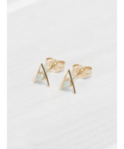 WWAKE | Small Opal Triangle Earrings