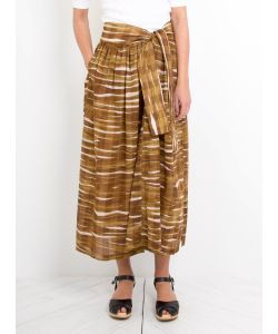 Humanoid | Wave Print Wane Skirt Olive