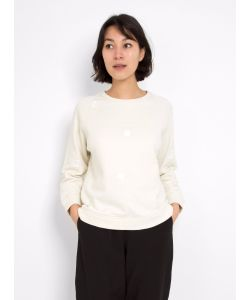 Folk | Fluffy Dot Sweatshirt Off