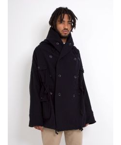 Kapital | Wool Ring Coat 100 Navy Wool