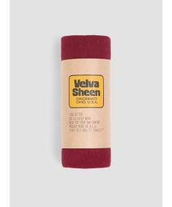 Velva Sheen | Roll Short Sleeved T Shirt Burgundy