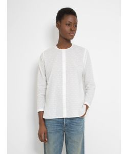 Folk | Collarless Long Shirt