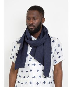 Engineered Garments | Long Scarf Pasley Jacquard Dark Navy