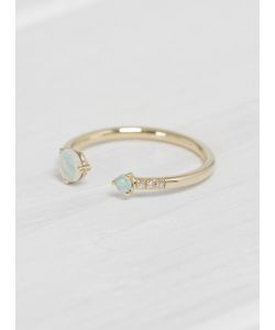 WWAKE | Open Opal Diamond Ring