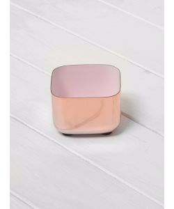 LOUISE ROE | Brass Enamel Metal Tray Copper Rosa
