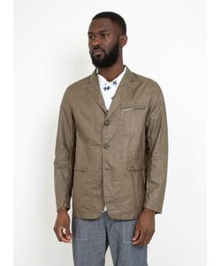 Engineered Garments | Knockabout Jacket Olive Coated Linen