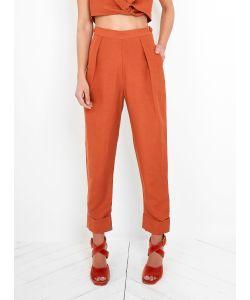 Rachel Comey   Silk Linen Westside Pant Rust