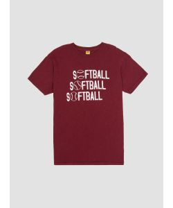 Velva Sheen | Softball T Shirt Burgundy