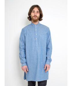 Gitman Vintage   Mandarin Collar Long Shirt