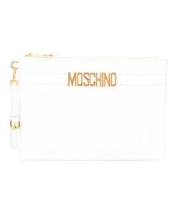 Moschino | Logo Strap Clutch Viscose/Leather