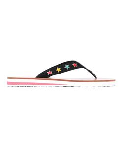 Red Valentino | Star Embroidered Flip-Flops